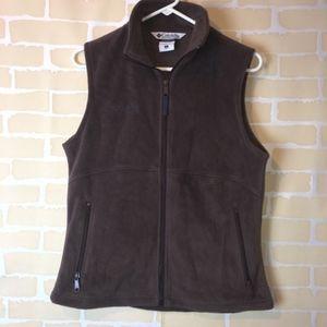Women's small brown Fleece Columbia Vest